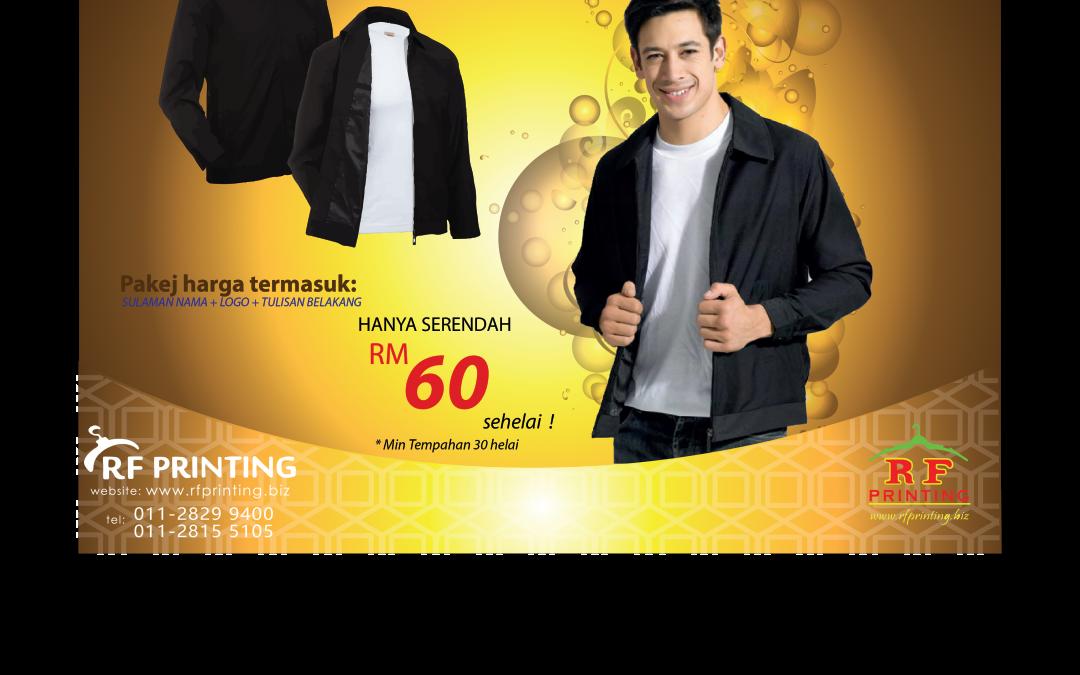 Tempahan Jaket Korporat RM60
